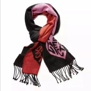 Victoria secret black with hearts scarf